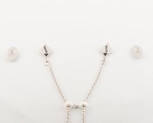 Rhodium chains & magnetic pendants